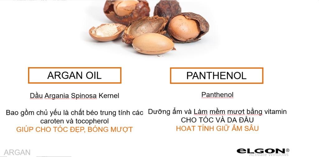 Đặc tính khoa học chuyên sau của bộ dầu gội chứa tinh dầu argan