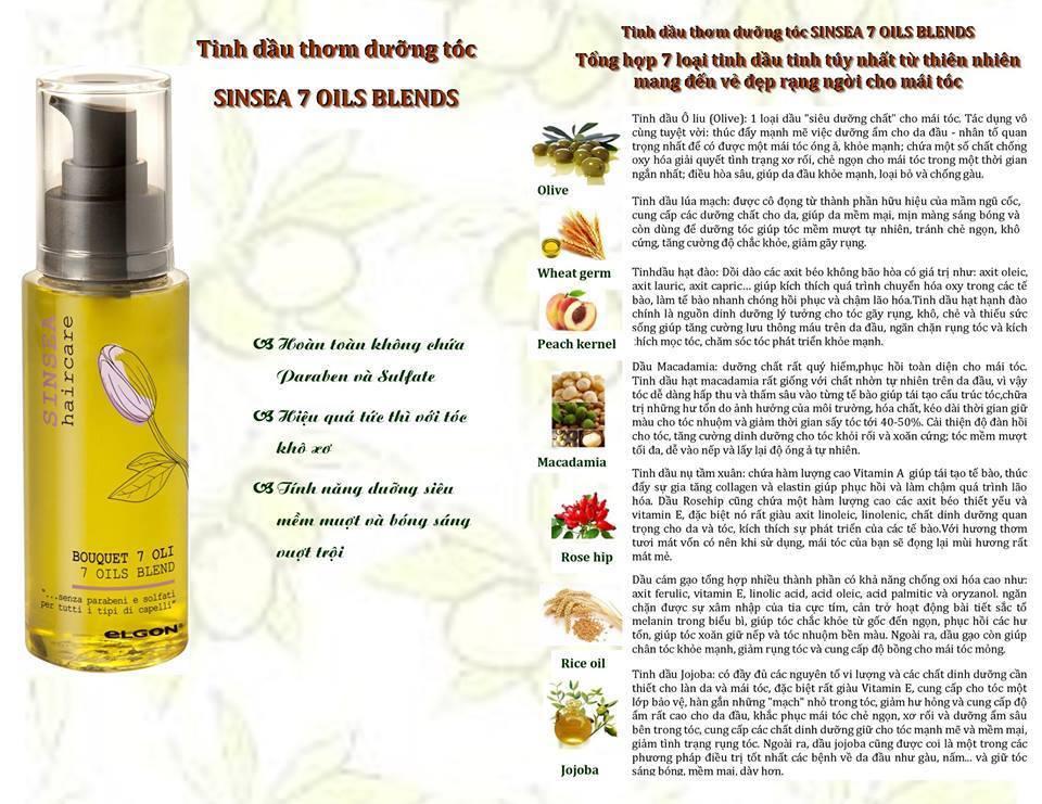 Tinh dầu thơm dưỡng tócSINSEA 7 OILS BLEND