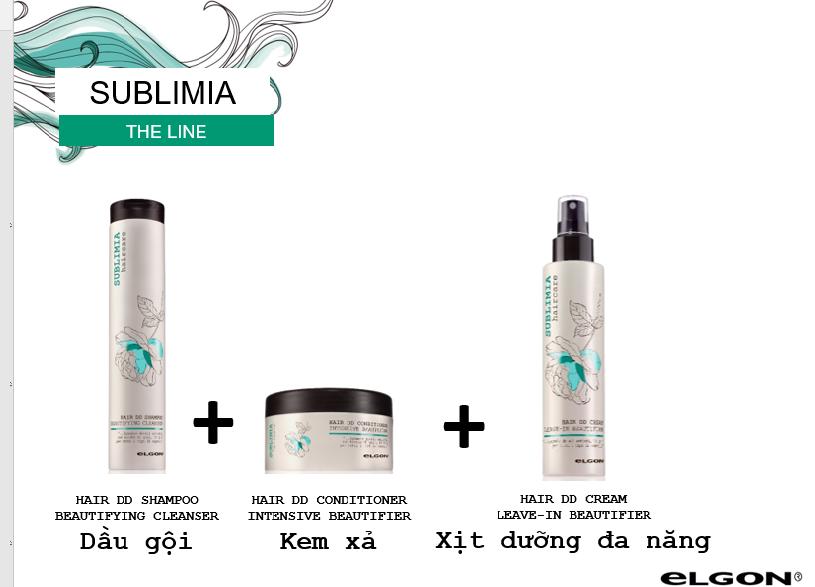 Bọ 3 sản phẩm gội xả xịt dưỡng 10in1 của Sublimia dành cho tóc khô xơ